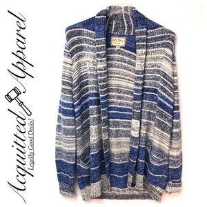 Lucky Brand | Cotton Blend Blue Stripe Sweater